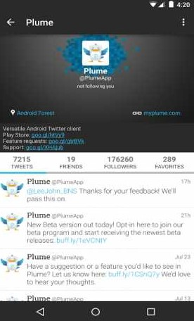 Plume for Twitter 6.27.2 Apk (Premium) for android